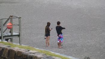 砂浜でナビの練習