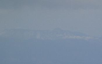 大島に積雪