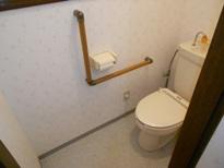 トイレ手摺工事