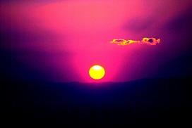 ピンクの夕陽