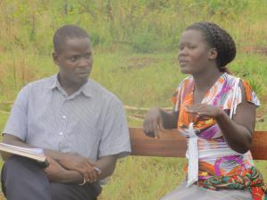 Lacaa Nancy- a beneficiary during the interview at her home