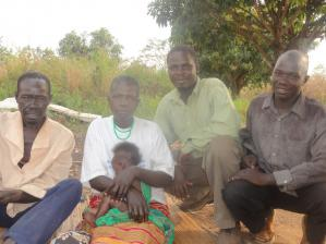 Nyeko Simon and his parents-He is in Tailoring