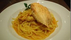 ワタリガニのトマトクリームスパゲッティ