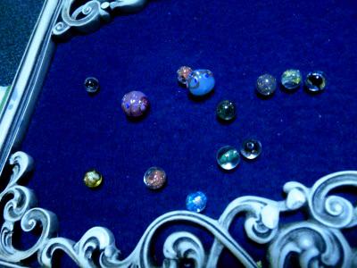 ベネチアンガラスのビーズ