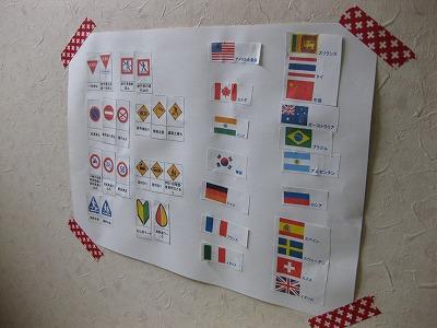 国旗と子供教育
