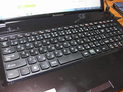 G580のキーボード