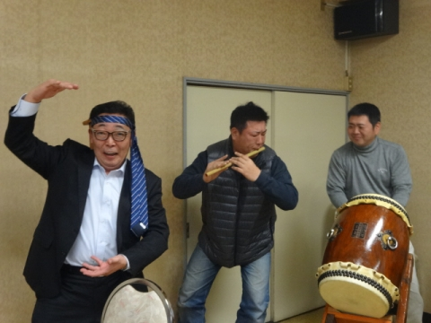 ⑥青木囃子保存会 25周年記念式典 シェー