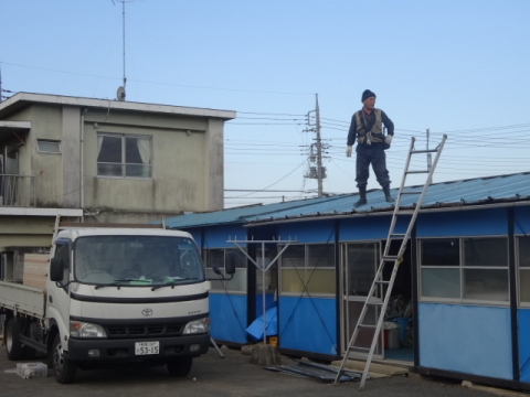 ②プレハブ 屋根取り替え 開始