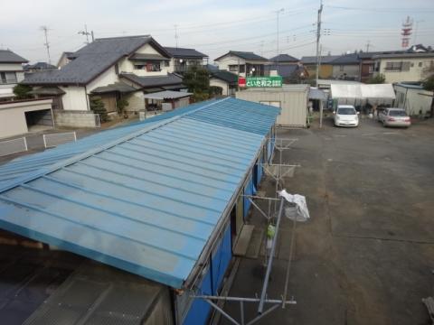 ⑥プレハブ 屋根取り替え 完成