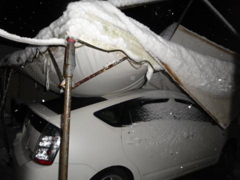 プリウス③ テント大雪直撃