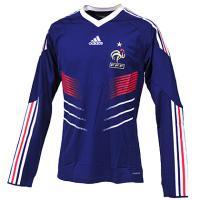 フランス代表 2010 ユニフォーム ホーム 長袖 選手支給用【FORMOTION】(エンブレム刺繍)