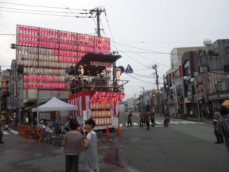 平成25年三島夏まつり広小路駅前の様子をシャメ