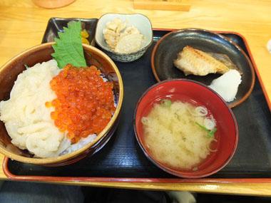 9いくらイカ刺丼+ホッケ焼定食0923