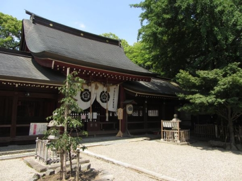 富部神社祭文殿・回廊