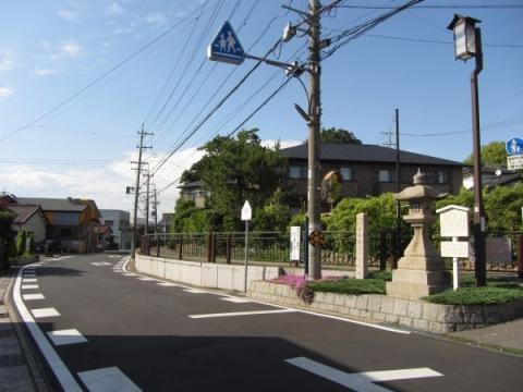 丹下町常夜燈と旧東海道
