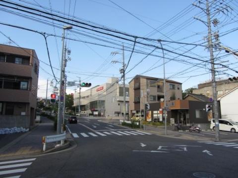札の辻(本町交差点)と庚申坂