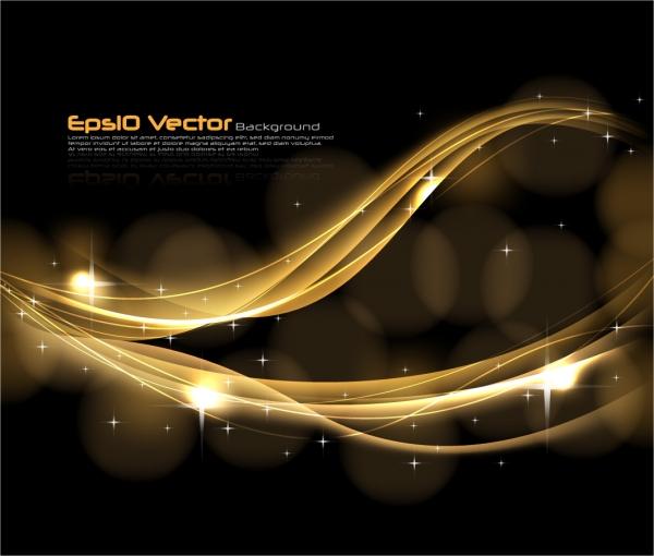 金色の曲線が優雅に輝く背景 golden dynamic background1