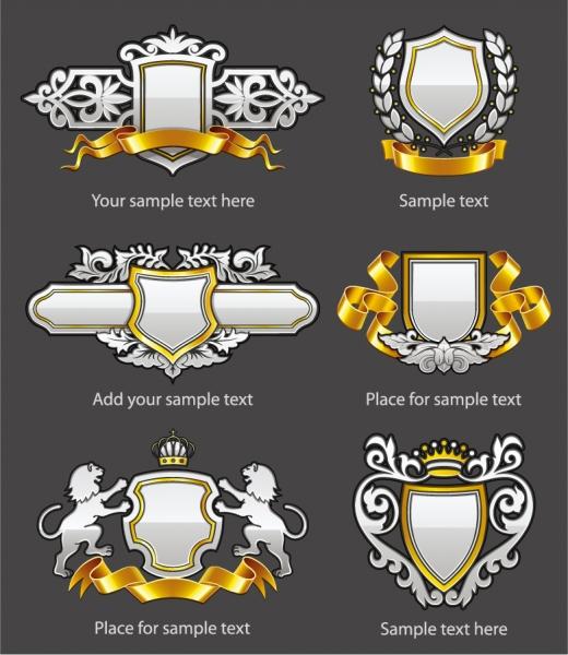 紋章のエンブレム heraldry emblems vector