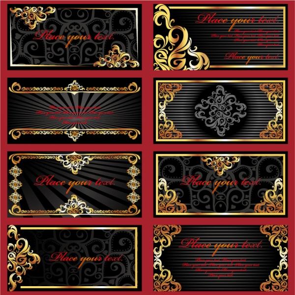 金色のレース飾りが鮮やかなフレーム gold ornate lace1