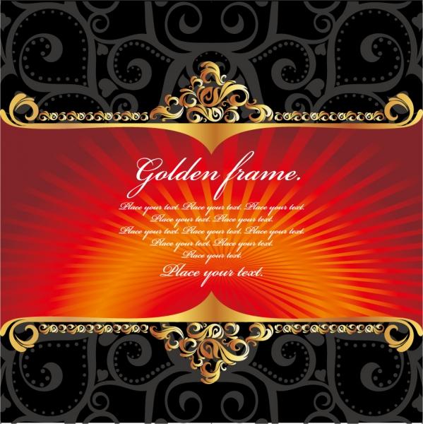 金色のレース飾りが鮮やかなフレーム gold ornate lace2