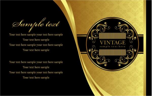 ヨーロッパ調の金色パターンの背景 european gold pattern vector1