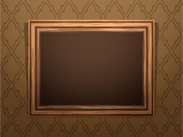 古風な趣の木製フレーム Classical wood texture frame