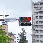 赤信号で結局同じ車と遭遇