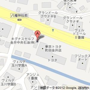 キグナス セルフ金井の地図