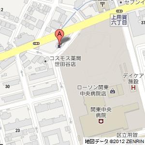 キグナス 用賀の地図