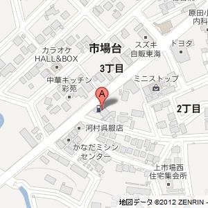 ユニーオイル 新城SSの地図