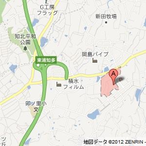 ユニーオイル東浦 インターSSの地図