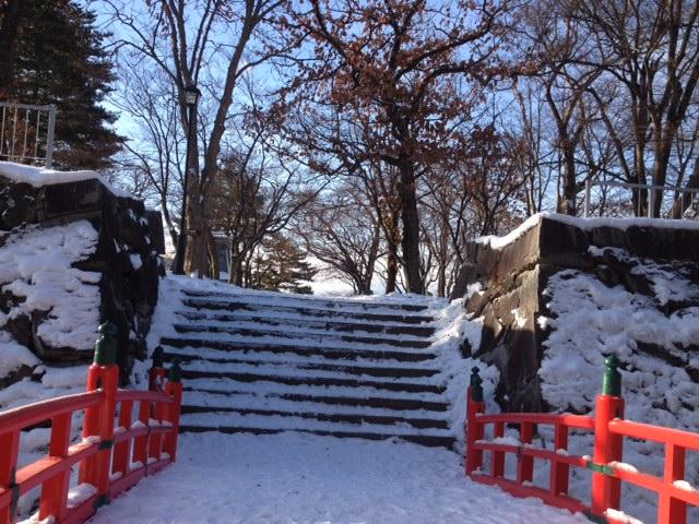 渡雲橋雪景色