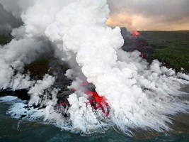 地球の超巨大火山噴火、マグマの浮力が引き金に