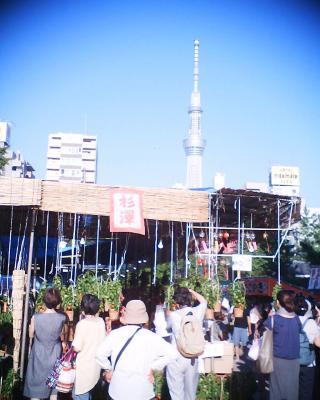 ほおずき市と東京スカイツリー:R2