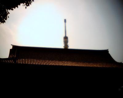 増上寺の上の東京タワー:Entry
