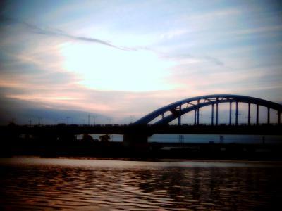 多摩川・夕景:Entry