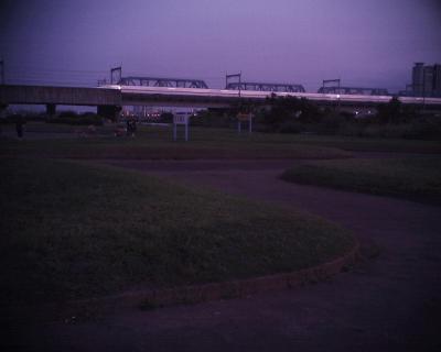 日暮れの新幹線:R2