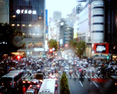 雨のハチ公口交差点:Entry