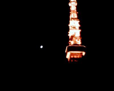 東京タワーと夕月:Entry