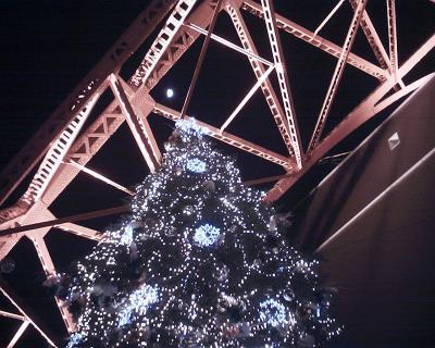 東京タワーのツリーと月見:R2