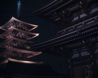 浅草寺宝蔵門と五重塔:R2