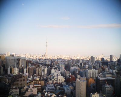東京スカイツリーと月見:R2