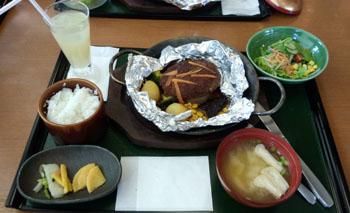 お昼ご飯 和風ハンバーグ