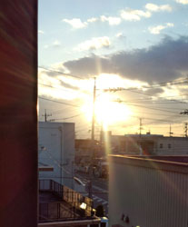 朝日 きらきら