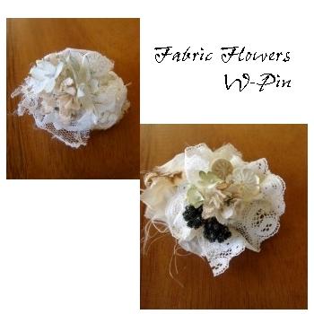 Work SHop * 布花のWピン作り
