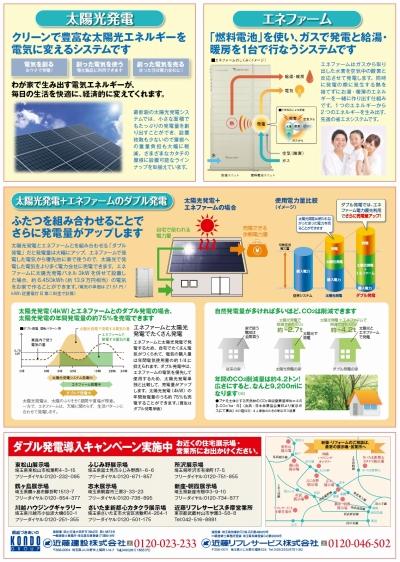 自然エネルギーPJ第二弾 広告(裏)