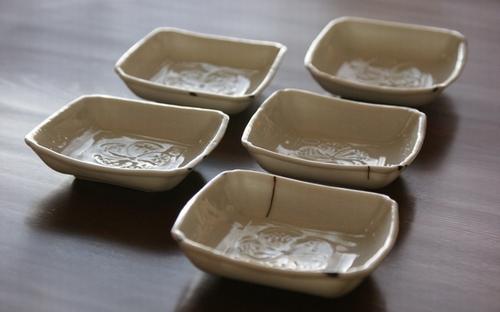 白磁豆皿5客2