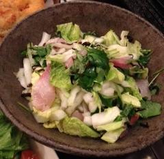 カンパチと白菜の塩昆布和え