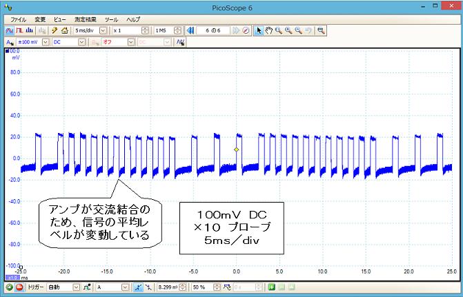 超簡易版ラジコンモニターの製作回路2波形