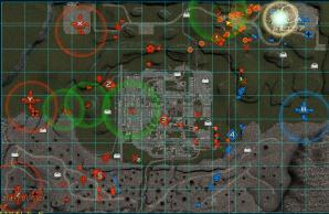 右上の核護衛の人数に注目